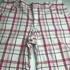 Cato Shorts Pink, White & Purple  Leg Size 16