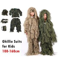 Tactical Sniper Camouflage Gillie Suits for Kids Teenager Cosplay