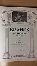 Brahms: New Love Song: Waltzes: Opus 65: Music Score (C4)