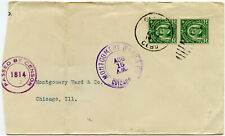 PHILIPPINES WW1 CENSORED 1814 CEBU to CHICAGO 2c PAIR