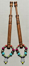 LACEMAKING LACE BOBBINS PAIR OF NARGUSTA WOOD BOBBINS
