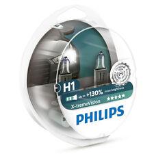 Genuine Philips H1 X-treme Vision +130% light Halogen Lamps 12258XV+S2 1 set