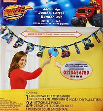 Blaze And The Monster Machines Party Supplies ADD AN AGE LETTER BANNER kIt