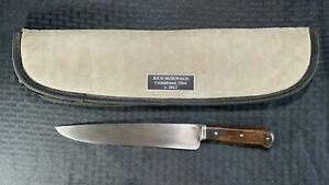 Large Custom Handmade Steel Rich McDonald Knife Lot#SP8 Wood Handle