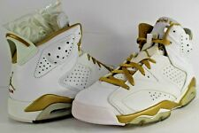 4c80c02bf13b9 Nike Air Jordan Retro VI 6 GMP Gold Medal Pack White Metallic Gold Size 10