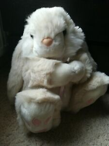 Large Simply Soft Collection Keel Toy Company Patchfoot Bunny Rabbit Plush Teddy