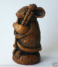 More details for church mouse musician bagpipes unique scottish ornament scottish bagpiping gift