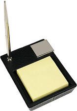 London Designs 48033 Black Faux Leather Post It ! & Pen Holder HALF PRICE OFFER