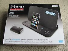 New iHome iP45BZ Portable Stereo Rechargeable Speaker System for iPhone/ipod