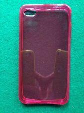 COVER custodia case x iPHONE 4 4s FUXIA FUCSIA TRASPARENTE in GOMMA GEL SILICONE
