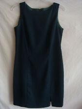 WOMENS AUTH BE SMART SLEEVELESS STRAIGHT DRESS NEW DARK GREEN SZ 7/8