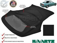 BMW 3-Series Convertible Top, 1994-1999 E36 in Black Sailcloth, Plastic Window