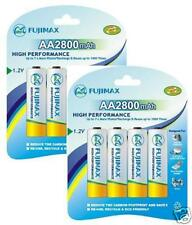 FUJIMAX*8 x 2800 MAH AA RECHARGEABLE BATTERIES+ USB CHARGER