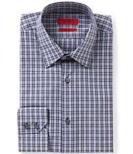 HUGO BOSS C-MENZO US RED LABEL DRESS SHIRT REGULAR FIT NAVY PLAID CHECKED -NWT