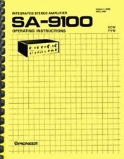 Pioneer SA-9100 Stereo Amplifier OWNER'S MANUAL and SERVICE MANUAL