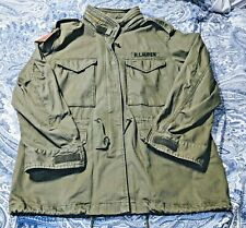 ***Large***Polo Ralph Lauren Unisex Military Army American Flag Coat Jacket
