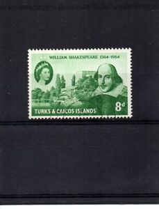 Turks & Caicos Islands - 1964 William Shakespeare Fine Used - SG 257