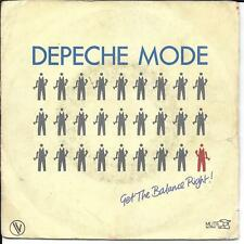 "45 TOURS / 7"" SINGLE--DEPECHE MODE--GET THE BALANCE RIGHT / THE GREAT OUTDOORS"