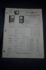 1950 *ORIGINAL* General Electric Service Data Models 12T1 12C101 12C102 & 12C105