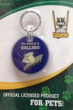 New NRL Bulldogs DOG PUPPY CAT KITTEN PET ID TAG OR KEY RING BNIP