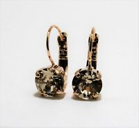 Choose Your Finish Leverback Earrings made with Silk Swarovski Crystal Elements
