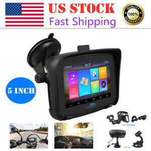 5.0 Touch Car Navigation GPS for Motorcycle  Andriod 6.0 NavigatorFree Map 16GB