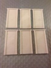 6 X Concrete Cast Type RETAIN WALLS SECTIONS -OO Scale HO scale