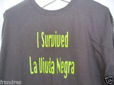 NWOT  S6    I Survived La Viuda Negra Charcoal XL T-shirt  Sobrevivi black Widow