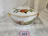 "ROYAL WORCESTER Evesham Gold Lidded Vegetable DISH 7.75"" Diameter 4.25"" Deep"
