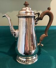 Fine Vintage George II Style Sterling Silver Coffee Pot Peter Guille London 1945