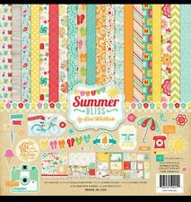 Huge 12 x 12 Echo Park Summer Bliss Pool Beach Swim Scrapbook Lot Paper Crafting