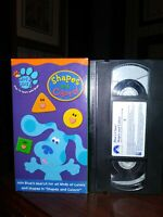 Blues Clues Shapes and Colors VHS NICK JR. EDUCATIONAL RETRO FREE SHIPPING