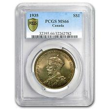 1935 Canada Silver Dollar George V MS-66 PCGS - SKU #95592