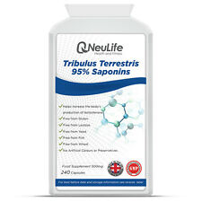Tribulus Terrestris 95% Saponins 500mg x 240 Capsules Testosterone Booster