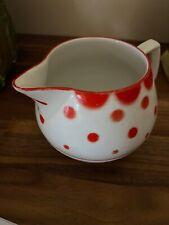 Antique Erphila 1/3 Lit. Red Polka Dot Pitcher