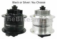 Shimano DH-3D32 Dynamo Generator 32H 6-Bolt Disc Hub 3W 6V Front Black or Silver