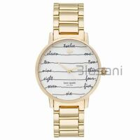 Kate Spade Original KSW1060 Women's Metro Chalkboard Gold Stainless Steel Watch