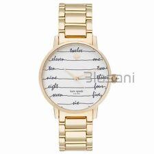 Kate Spade Original KSW1060 Women's Metro Chalkboard Gold Stainless Steel Watch