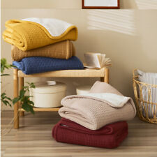 Thick Cotton Knitted Throw Blanket Soft Warm Home Bed Sofa Covers Nap Blankets