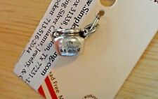 Sterling Silver 3D 10x7x7mm says Boston Beans on Cooking Pot Baked Beans Charm