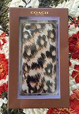 NIB GENUINE COACH IPHONE 5/5S Rose Petal Ocelot Print F62630 Molded Plastic New
