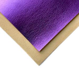 Real PURPLE Metallic Leather Sheet 6x6in/15x15cm 2oz/.8mm Metal skin VIOLA 705