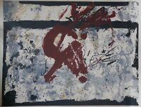 Antoni Tàpies, Original Farblithographie 1970, handsigniert + 39/300