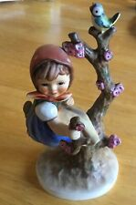 Hummel Apple Tree Girl. no chips or crazing. 6 inches. signature on back of base