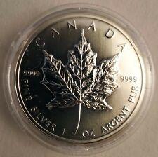 Pièce 1 once Maple Leaf Canada argent silver 2010 sous capsule