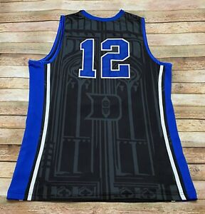 Nike Elite DUKE BLUE DEVILS Jersey #12 SINGLER WINSLOW Stitched NCAA Black 2XL