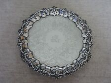 QUALITY ANTIQUE GEORGIAN SOLID SILVER CARD TRAY SALVER LONDON 1835.