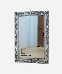 WOOD MOP INLAY HOME DECORATIVE MIRROR FRAME