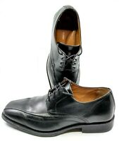 Johnston Murphy Harding Oxford Mens 11 Sz M Black Panel Bicycle Toe Lace Up Shoe