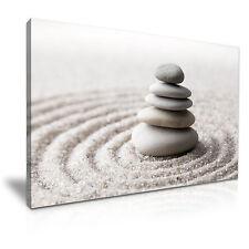 Zen Garden Stones Relax Canvas Wall Art Picture Print 76x50cm